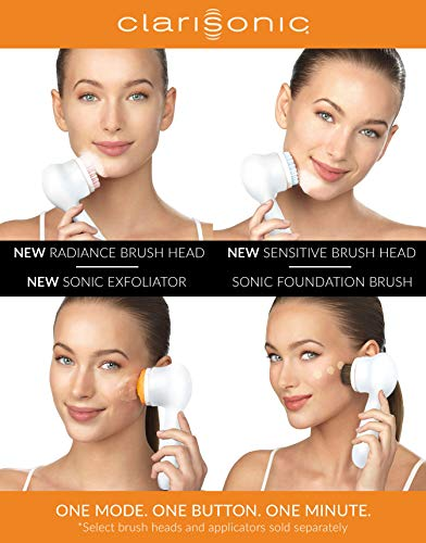 Clarisonic Mia Prima Waterproof Sonic Facial Cleansing Brush to Minimize Pores and Remove Makeup, For Oily, Dry and Sensitive Skin
