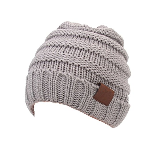 (Aigemi Kids Baby Toddler Cable Ribbed Knit Children's Winter Hat Beanie Cap (Light)