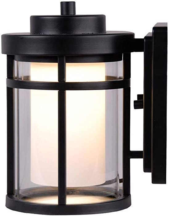 Home Decorators Collection B00R7R0DCY Outdoor LED Small Wall Light, Black