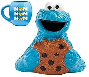 Vandor Mug Pop Icon Gift Bundles (Cookie Monster Cookie Jar and Mug)