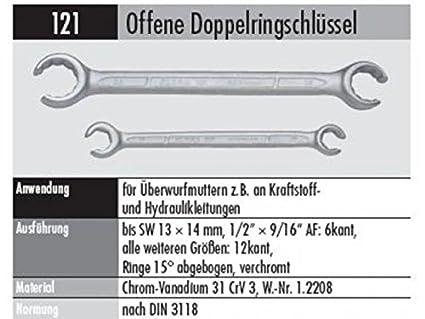 ELORA 121017191000 121-17X19MM OFFENER RINGSCHLÜ SSEL, Made in Germany, 17 x 19 mm