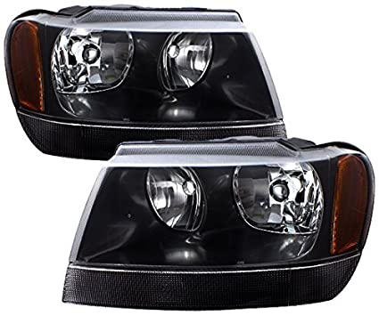 AJP Distributors For Jeep Grand Cherokee Headlights Head Lights Lamps  Upgrade Replacement Pair Unit Assembly 1999