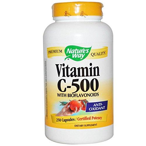 Natures Way Vitamin C 500 W BIO, 250 CP