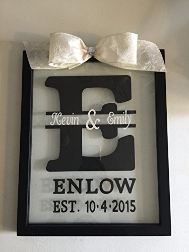 d Established Date Glass Frame Plaque (Established Date Plaque)