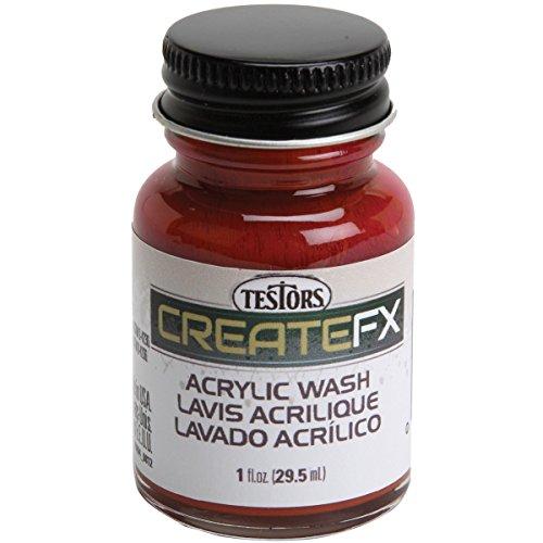 Createfx Acrylic Wash 1oz-Teak Teak Paint