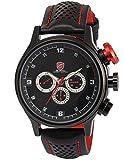 SHARK Men's Fashion 6 Hands Date Day Racing Black Sport Quartz Watch + Box SH084