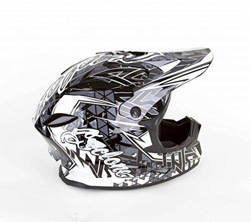 Cyclone ATV MX Motorcross Dirt Bike Quad Offroad Helmet - Black/White - Large