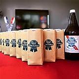 Pabst Blue Ribbon Paper Bag Can Bottle Cooler