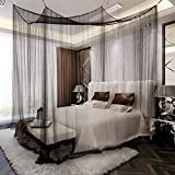 Is There a Bed Bigger Than a King La Vogue Four Corner Post Bed Canopy Mosquito Net Full Queen King Size Bed Net Black