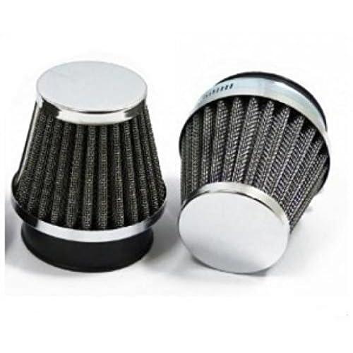 Filtre à air MAD pour cc de a 02267 etat Neuf Cornet de filtre a air chromé type K & N diamètre 51 / 52 / 53 mm vendu à l'unité avec collier de serrage. Livré conforme à la