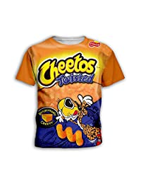 PLstar Cosmos Kids Cheetos Shirt Novelty 3D top t-Shirt for Boys and Girls