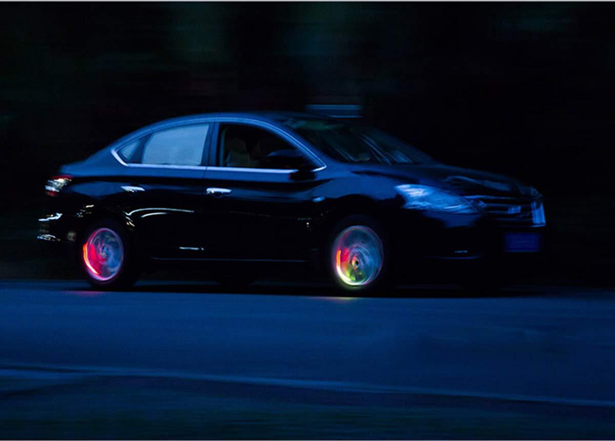 Reifen Beleuchtung LED Ventil Kappen Auto Suweor upo 8 St/ücke LED wasserdichte Reifen Ventilkappen Neonlicht Auto Zubeh/ör Fahrradlicht Auto Motorrad oder LKW Speichen Licht f/ür Fahrrad Wei/ß