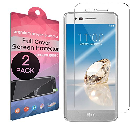 [2-Pack] LG Aristo Screen Protector,SupThin [Full Coverage][Case Friendly][Bubble-Free][Anti-Scratch] HD Clear Screen Protector for LG Aristo (MS210) /LG V3/LG LV3