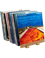 Benny Bass Vinyl Record Storage I Vinyl Record Holder for 65 Albums with Now Playing Vinyl Record Stand I LP Storage Furniture, Record Display, Vinyl Record Shelf, Record Organizer, Vinyl Record Décor