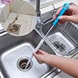 Dryer Vent Brush - Clothes Dryer Lint Removers Trap Kitchen Sink Bathroom Sewer Hair Cleaner Tools (Blue)