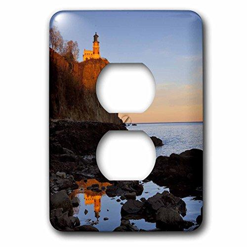 (3dRose  lsp_91374_6 Split Rock Lighthouse, Two Harbors, Minnesota Us24 Cha0071 Chuck Haney 2 Plug Outlet Cover)