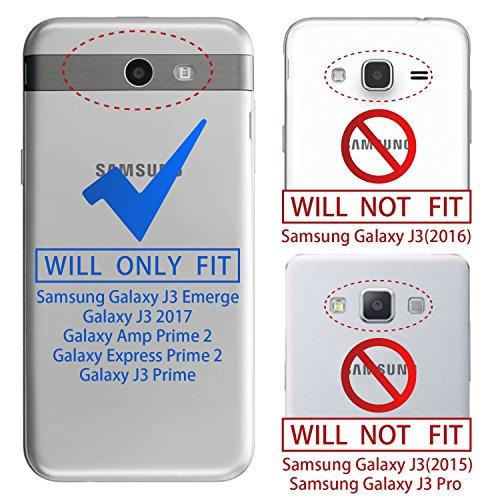 new Galaxy J3 Emerge Case,J3 Prime,J3 Mission,J3 Luna Pro,J3 Eclipse,Amp Prime 2,Express Prime 2 Case with Screen Protector,NiuBox Hybrid Armor Shock Absorption Protective Case for Samsung J3 2017- Black