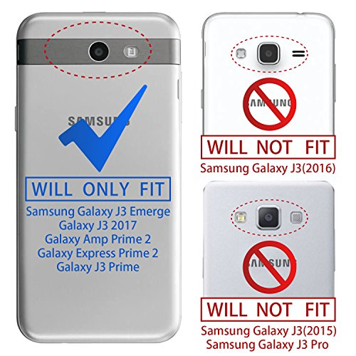 Samsung Galaxy J3 Emerge Glitter Case,J3 Eclipse/J3 Prime/J3 Luna Pro/J3  Mission/Amp Prime 2/Expre