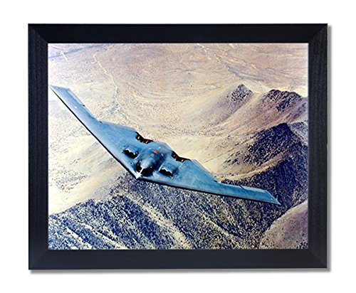 B2 Stealth Bomber Jet Airplane Picture Black Framed Art (B2 Stealth Bomber Pictures)
