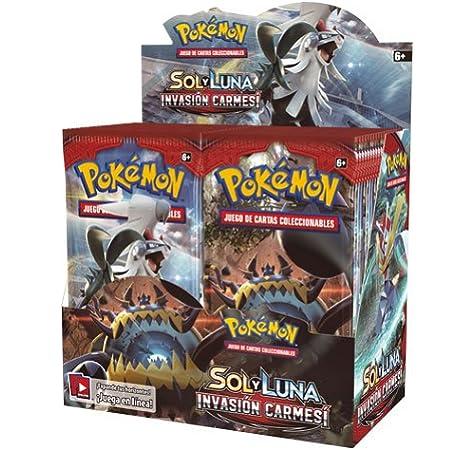 Pokemon JCC- Caja de 36 Sobres de: Sol y Luna: Invasión Carmesí sobre - Español, Color (The Pokémon Company POSMCI02D): Amazon.es: Juguetes y juegos