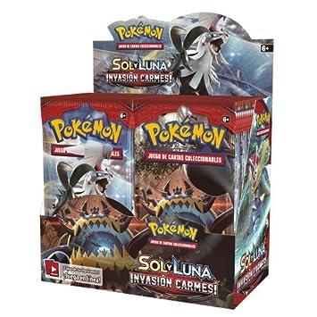 Pokemon JCC Caja de 36 Sobres de: Sol y Luna: Invasión ...