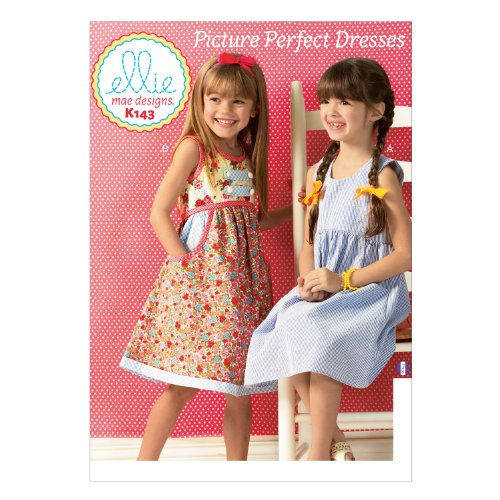 (KWIK-SEW PATTERNS K0143OSZ Girls' Dresses Sewing Template)