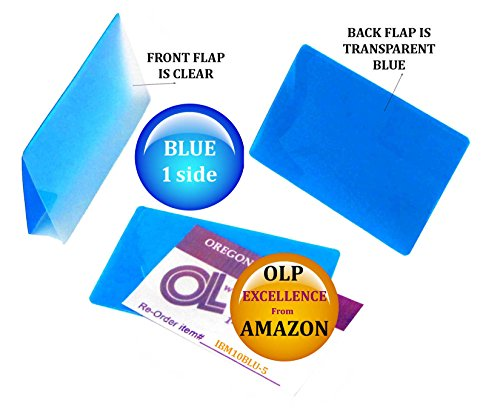 Oregon Lamination Hot Laminating Pouches IBM Card (pack of 500) 10 mil 2-5/16 x 3-1/4 Blue/Clear by Oregon Lamination Premium