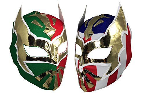 Sin Cara Costumes (2 Pack SIN CARA Youth Lucha Libre Wrestling Mask - Kids Costume Wear - Party Pack -)