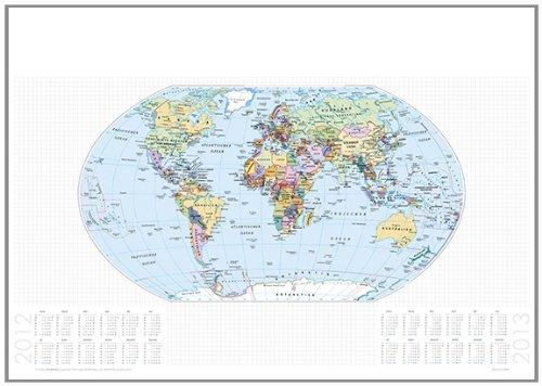 Papier-Schreibunterlage Staaten der Erde