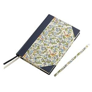 """'Cuaderno """"Flor entina, Azul, Blanco-Azul Cuaderno para fijar a todas sus ideas y pensamientos"""