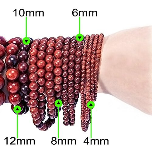 Sunset Mookaite Jasper 8mm Gemstone Stretch Bracelet Handmade in California