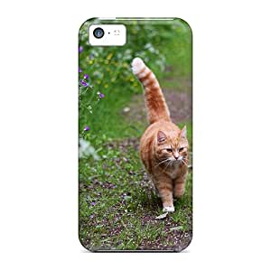 For Iphone 5c Protector Case Cat On A Walk Phone Cover