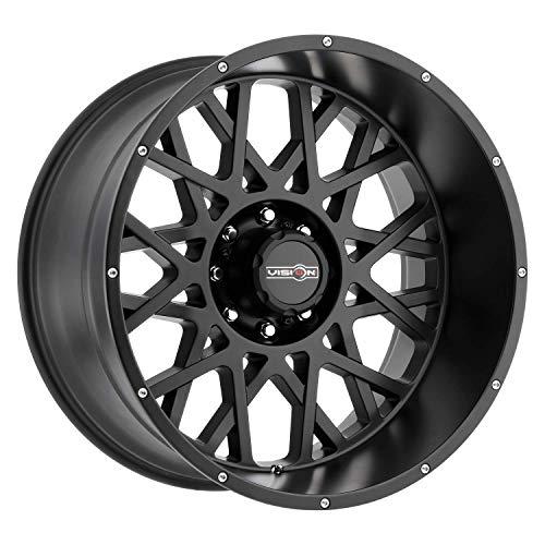 (VISION OFF ROAD ROCKER Wheels/Rims 20x12 inch 170 ET-51 Satin Black)
