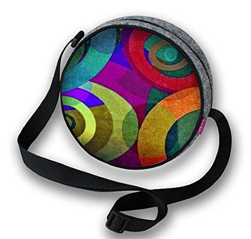 BERTONI, Borsa a tracolla donna Multicolore Grau, Mehrfarbig L