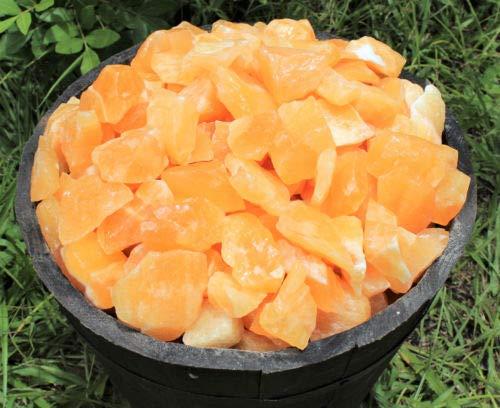 500 Carat Bulk Lot Natural Rough Orange Calcite (Crystal Raw Rocks 100 Grams)