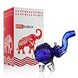 Hand Glass Elephant Device 5 inch Blue for Dry Herbs