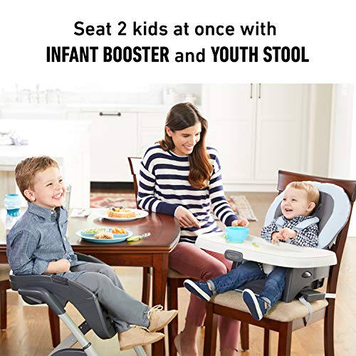 51oJnP08BSL - Graco DuoDiner DLX 6 In 1 High Chair | Converts To Dining Booster Seat, Youth Stool, And More, Kagen