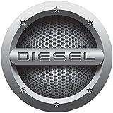 CVANU® Grey Diesel Car Fuel Lid Decal /Sticker Printed (12cm) For Ford EcoSport
