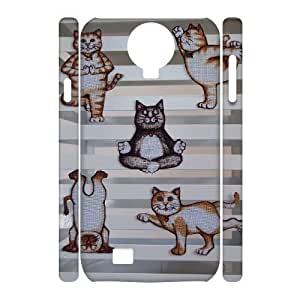 Yoga Cats Customized 3D Cover Case for SamSung Galaxy S4 I9500,custom phone case ygtg573341