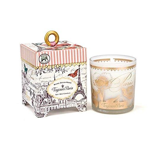 - Michel Design Works European Floral Scented 6.5 oz Soy Wax Candle, Toujours Paris