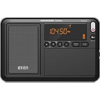 Eton NGWTIIIB Traveler III AM/FM/LW/SW and Radio with ATS, Black