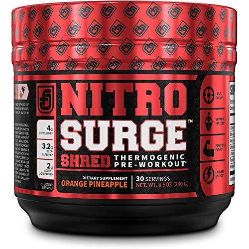 NITROSURGE Shred Pre Workout Supplement