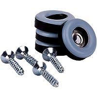 24 stuks Teflon meubelglijders rond Ø 19 mm - 5 mm dik incl. schroef 3,5 mm x 20 mm / PTFE coating / Teflon glijders…