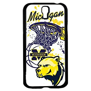 University of Michigan Wolverines Blue and Yellow College Basketball Sports Hard Snap on Phone Case (Galaxy s4 IV)
