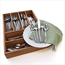 Oneida Mooncrest 45-Pc Set, Service for 8 with Bamboo Storage Caddy