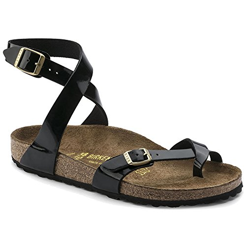 cb01db37941 Birkenstock Women s Yara Black Birko-Flor Sandals 40 (US Women s 9-9.5)