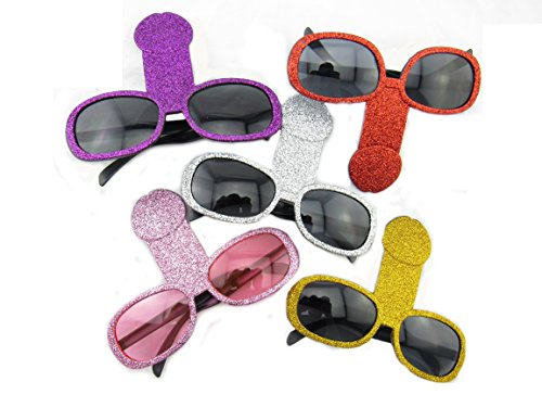 Wiener Shape Bachelorette Party Sunglasses (5 Pack)