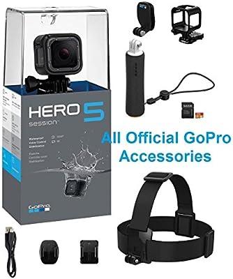 GoPro Hero5 - Cámara de acción con Correa para la Cabeza y Clip ...