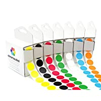 ChromaLabel Standard Color-Code Dot Label Kit | 7 Assorted Colors | 1,000/Dispenser Box (3/4 inch)