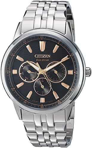 Citizen Men's Eco-Drive Japanese-Quartz Watch with Stainless-Steel Strap, Silver (Model: BU2070-55E)